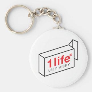 1 Life Keychain