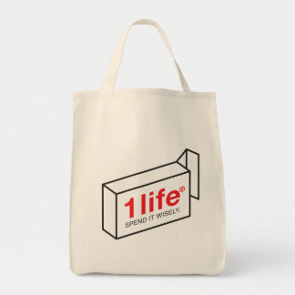 1 Life Spend Grocery Tote Bag