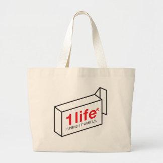 1 Life Spend Jumbo Tote Bag
