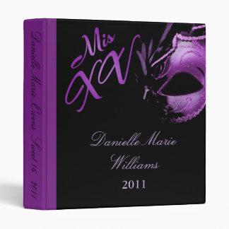 "1"" lila de la púrpura del Mis XV del libro de recu Carpeta 1"""