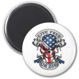 1 Live free.png 2 Inch Round Magnet