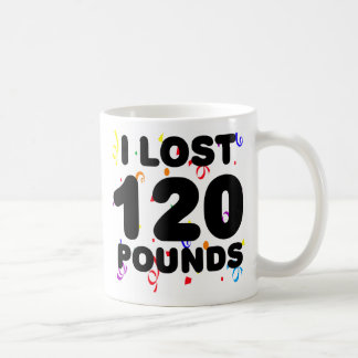 1 Lost 120 Pounds Party Classic White Coffee Mug
