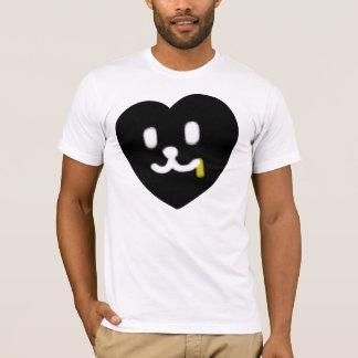 1 LOVE HEART FACE JUICY BLACK T-Shirt