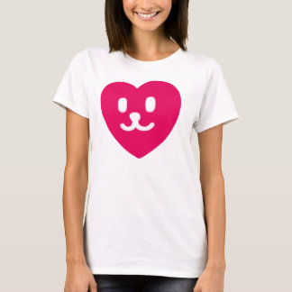 1 LOVE HEART FACE SMILEY RED T-Shirt