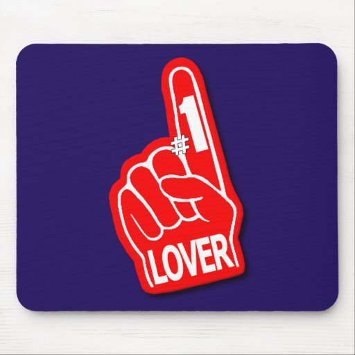 #1 Lover Foam Hand Valentine's Day Mousepads