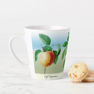 #1 Lt. Blue Latte Mug Fruit Pierre-Joseph Redouté