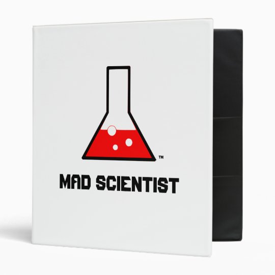 "1""  MAD SCIENTIST Binder"