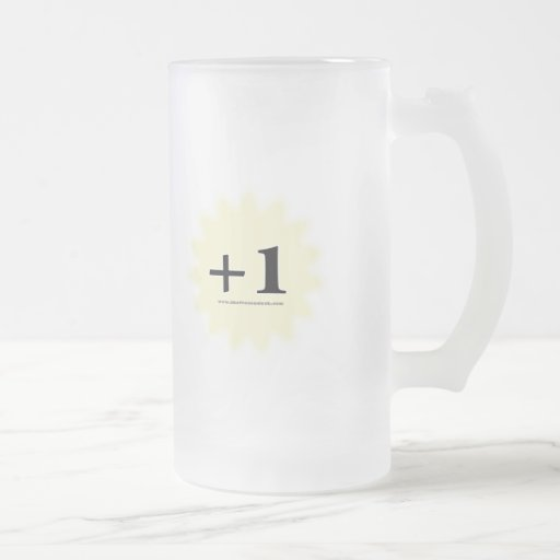 +1 Magic Item 16 Oz Frosted Glass Beer Mug