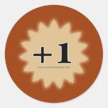+1 Magic Item Classic Round Sticker