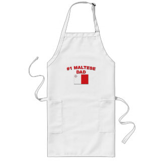 #1 Maltese Dad Long Apron