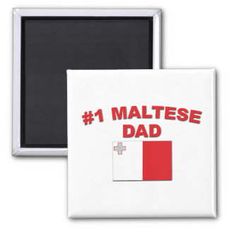 #1 Maltese Dad Magnet