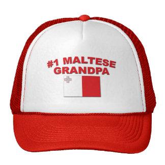#1 Maltese Grandpa Trucker Hat