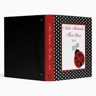 1 mariquita del rojo del libro de recuerdos de la