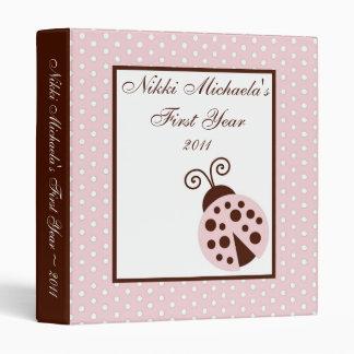 """1"""" mariquita del rosa del libro de recuerdos de la"""
