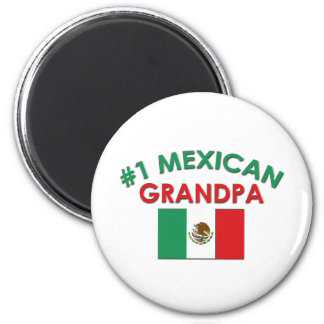 #1 Mexican Grandpa 2 Inch Round Magnet