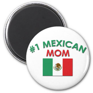 #1 Mexican Mom 2 Inch Round Magnet