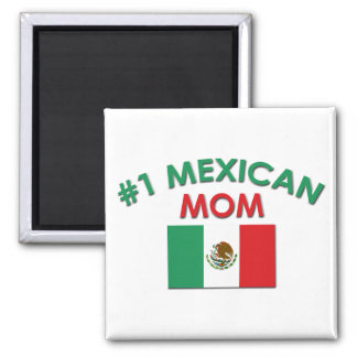 #1 Mexican Mom 2 Inch Square Magnet