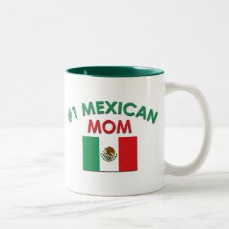 #1 Mexican Mom Two-Tone Coffee Mug