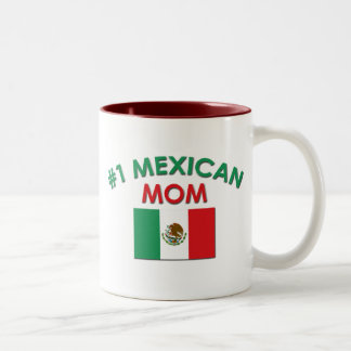 #1 Mexican Mom Two-Tone Coffee Mug