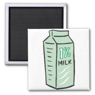 1% Milk 2 Inch Square Magnet