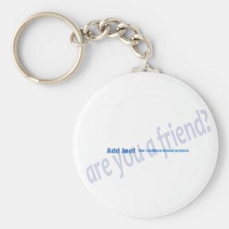 1 Million Friends Basic Round Button Keychain