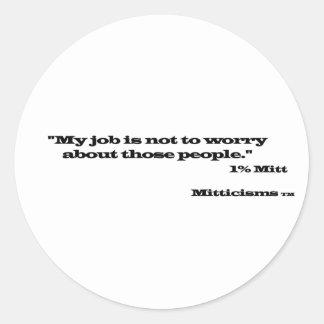 1% Mitt Classic Round Sticker