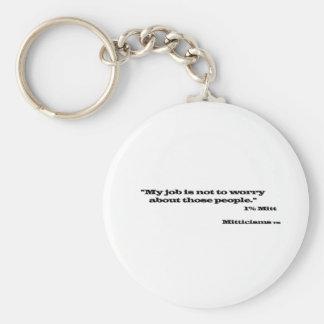 1% Mitt Keychain