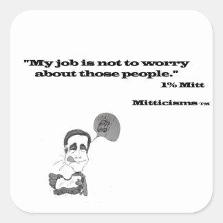 1% Mitt Square Sticker