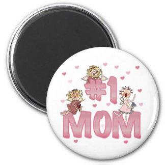 #1 Mom 2 Inch Round Magnet