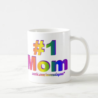 #1 Mom 3D Rainbow Double Side Mug