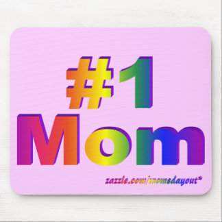 #1 Mom 3D Rainbow Graphic Mouse Pad