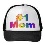 #1 Mom 3D Rainbow Graphic Trucker Hat