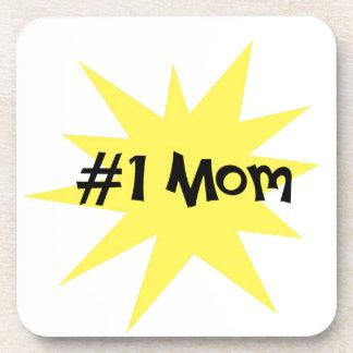#1 Mom Beverage Coaster