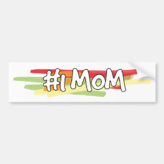 #1 Mom Car Bumper Sticker