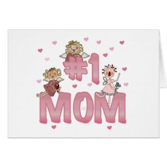 #1 Mom zazzle_card