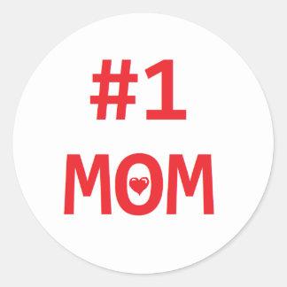 #1 Mom Classic Round Sticker