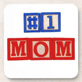 #1 Mom Cork Coaster