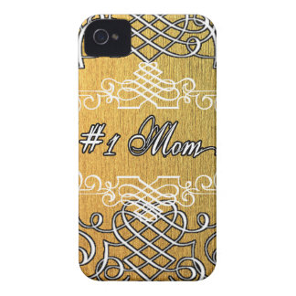#1 mom Golden typography mother's day Case-Mate iPhone 4 Case