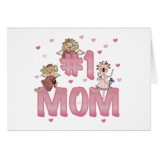 #1 Mom Greeting Card