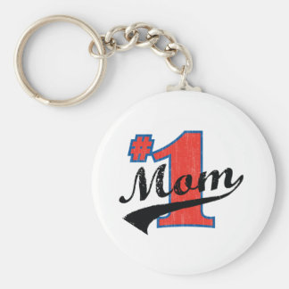#1 Mom Keychain