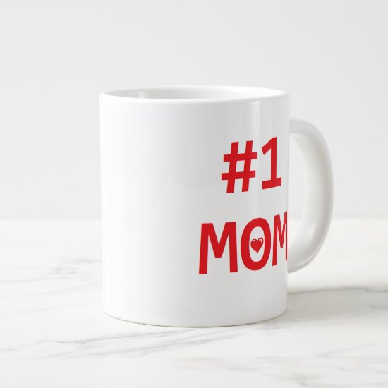 #1 Mom Large Coffee Mug