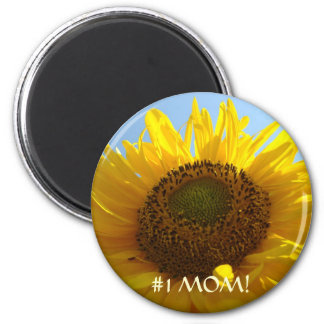 #1 MOM! Magnet SUNFLOWERS Magnets Gifts Mothers