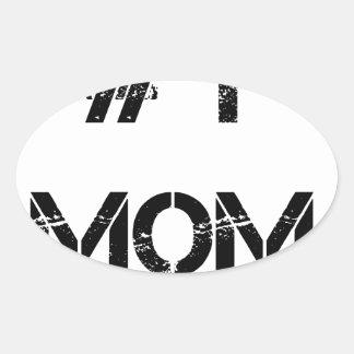 # 1 mom mother mommy oval sticker