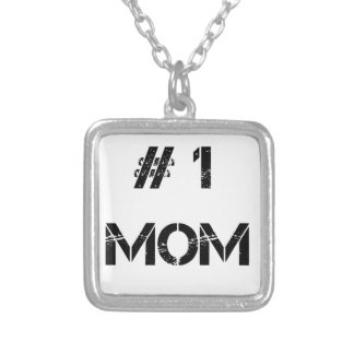 # 1 mom mother mommy silver plated necklace