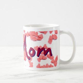 #1 Mom mug with Sweet Hearts