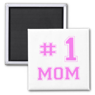 #1 Mom (Number One Mom) 2 Inch Square Magnet