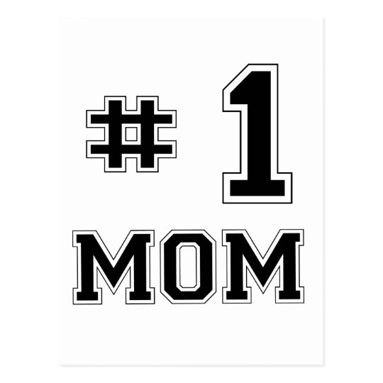 #1 Mom (Number One Mom) Postcard