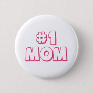 #1 Mom Number One Mom Tote bag Pinback Button