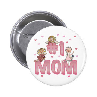 #1 Mom Pinback Button