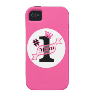 #1 MOM Pink iPhone 4 Cover